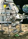 Cartoon: Was die Nasa verschweigt (small) by GB tagged space,mond,moon,nasa,astronaut,weltraum,ausserirdische,marsmännchen,kacke,esa,landing,apollo,11,collins,aldrin,armstrong,scheisse,shit