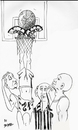 Cartoon: Basketball oddity (small) by optimystical tagged game,basketball,oddity,predicament,score,ref