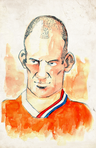 Cartoon: Aryen Robben (medium) by Thomas Berthelon tagged berthelon,thomas,worldcup,world,cup,2010,mondial,football,robben