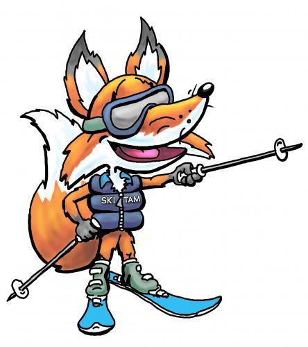 Cartoon: SkiTam Fox (medium) by karlwimer tagged ski,skiing,fox,skitam