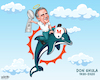 Cartoon: A Dolphin into the Great Beyond (small) by karlwimer tagged nfl,dolphins,wimer,american,football,don,shula,memorial,memoriam,coach,hall,of,fame