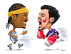 Cartoon: Anthony vs Arenado Brawl (small) by karlwimer tagged basketball,baseball,brawling,fighting,sports,rockies,nuggets