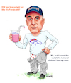 Cartoon: Coach Fangio Weight Loss (small) by karlwimer tagged denver,broncos,vic,fangio,nfl,american,football,sports,coach,weight,loss
