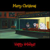 Cartoon: Rankin Bass Hopper Nighthawks (small) by karlwimer tagged santa,christmas,card,rankin,bass,edward,hopper,painting,art,mashup