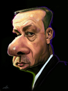 Cartoon: Erdogan (small) by jabir tagged erdogan,turkey