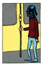 Cartoon: Vader on the bus (small) by Breidholt tagged star wars darth vader