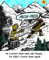 Cartoon: Jack and Jill Hill (small) by Tzod Earf tagged jack,and,jill,alpine,dog,sled,hill