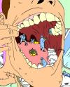Cartoon: Mouth Hygene (small) by Sippin Juice tagged mouth dentist hygene cleaning bathroom