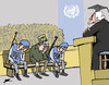 Cartoon: Mladic in Haag (small) by Ballner tagged mladic,haag,yugoslavia,serbia,srebrenica,un