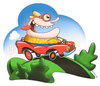 Cartoon: Happy Motoring (small) by birdbee tagged silly car drive road automobile goggles