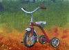 Cartoon: I Remember You (small) by birdbee tagged tricycle trike painting acrylics canvas