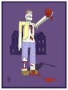 Cartoon: Zombie Valentine (small) by birdbee tagged zombie valentine heart blood