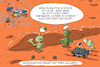 Cartoon: insight auf mars (small) by leopold maurer tagged insight,nasa,mars,landung,roboter,sonde,bohrer,maulwurf,loch,marsmensch,rover