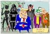 Cartoon: trumps cabinet (small) by leopold maurer tagged trump donald usa präsident kabinett bösewichte regierung schurken