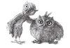 Cartoon: stan and oliver (small) by Stefan Kahlhammer tagged eule,zeichnung,owl,kahlhammer,kauz,hardy,laurel,comic,humor,tusche,karikatur,zwei,two,caricature