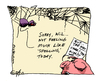 Cartoon: Charlotte is Not Feeling It (small) by ericHews tagged web,white,spider,pig,wilbur,charlotte,spell,spelling,words