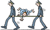 Cartoon: yoga (small) by Ellis Nadler tagged yoga,accident,knot,twisted,stretcher,ambulance,emergency,hospital,sport,uniform