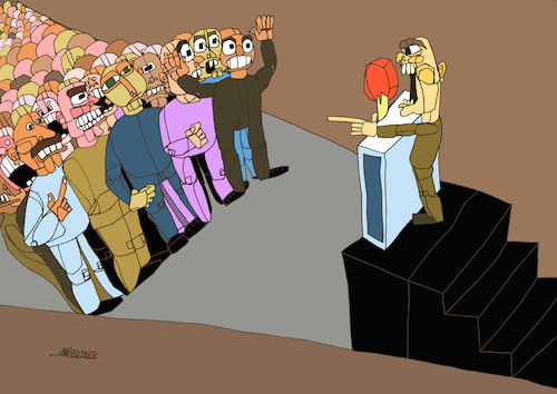 Cartoon: Political speech (medium) by omar seddek mostafa tagged political,speech
