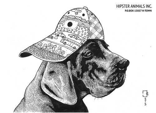 Cartoon: hipster animals 3 (medium) by cosmo9 tagged hipster,animal