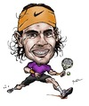 Cartoon: Rafael Nadal (small) by Perics tagged rafael nadal tennis caricature atp tour