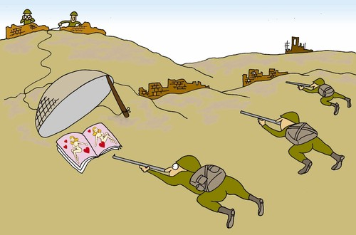Cartoon: trap (medium) by joruju piroshiki tagged trap,war