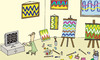 Cartoon: art (small) by joruju piroshiki tagged art,television,gallery
