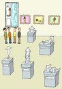 Cartoon: gallery (small) by joruju piroshiki tagged gallery,nude,woman