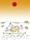 Cartoon: murder (small) by joruju piroshiki tagged murder,snowman,police,sun,global,warming