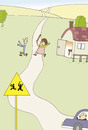 Cartoon: road sign (small) by joruju piroshiki tagged road,sign,ma,woman