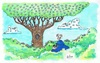 Cartoon: Birds Watching (small) by Kerina Strevens tagged bird watching eyes trees birds nature twitching