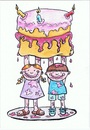 Cartoon: Cake For Mum (small) by Kerina Strevens tagged cake bake children mess parents mother mum love family