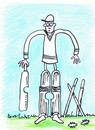 Cartoon: Cricket Problem (small) by Kerina Strevens tagged cricket,summer,ruin,sport,sun,fun,game