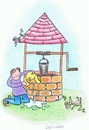Cartoon: Ding Dong Bell (small) by Kerina Strevens tagged well,water,cat,mice,rescue,wet,kill,dead,die