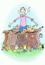 Cartoon: How Many Were Going To St. Ives? (small) by Kerina Strevens tagged nursery,rhyme,cats,kittens,journies