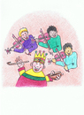 Cartoon: Old King Cole (small) by Kerina Strevens tagged king,fun,humour,children,nursery,rhyme
