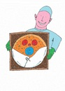 Cartoon: Pizza Delivery (small) by Kerina Strevens tagged pizzapitch