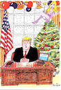 Cartoon: Trump at Christmas (small) by Ken tagged politics