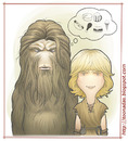 Cartoon: Bigfoot and Wildboy - colors (small) by Freelah tagged bigfoot,and,wildboy