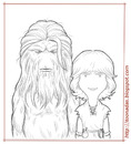 Cartoon: Bigfoot and Wildboy - lines (small) by Freelah tagged bigfoot,and,wildboy