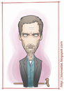 Cartoon: Hugh Laurie (small) by Freelah tagged hugh,laurie,house