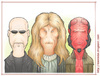 Cartoon: Ron Perlman Tribute (small) by Freelah tagged ron,perlman,hellboy,blade,beauty,beast,vincent