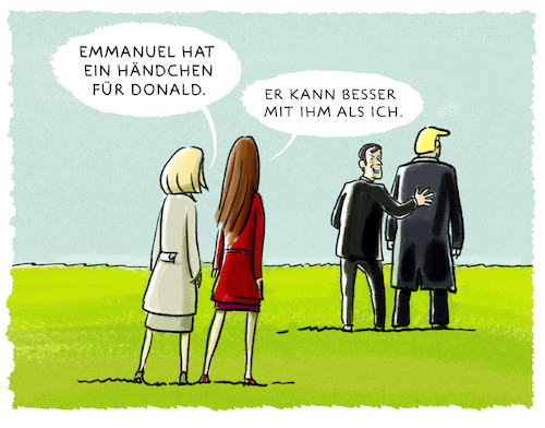 Cartoon: ... (medium) by markus-grolik tagged donald,emmanuel,melania,usa,europa,frankreich,donald,emmanuel,melania,usa,europa,frankreich