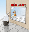 Cartoon: ... (small) by markus-grolik tagged buch,buchladen,hund,literatur,leser,lesen,print,books,and,more