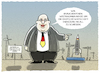 Cartoon: Flugkurve (small) by markus-grolik tagged peter,altmaier,industrie,deutschland,weltraum,weltraumbahnhof,all,groko