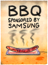 Cartoon: Grillparty (small) by markus-grolik tagged samsung,akku,note,galaxy,smartphone,explosionsgefahr,korea,apple,bbq,würstchen,technik,würstel,grillwürstel,sommergrolik
