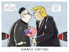 Cartoon: ..it must be love (small) by markus-grolik tagged trump,usa,nordkorea,gipfeltreffen,kim,jong,un,atomraketen