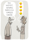Cartoon: ..Kommunikation... (small) by markus-grolik tagged emoji,zeichen,smartphone,handy,mann,frau,talk,kommunikation