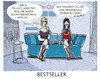 Cartoon: Marketing (small) by markus-grolik tagged charlotte,roche,feuchtgebiete,erfolg,megaerfolg,bestseller,porno,erotik,literatur,buchmesse,frankfurt,blaues,sofa,business,verleger,verlagslandschaft,leser,leserschaft,aspekt,3sat,kultur,zdf,bestsellerlisten,cartoon,grolik
