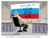 Cartoon: Trend zum world-national-web (small) by markus-grolik tagged putin,russland,internet,www,web,moskau,zensur,troll,cyber,cyberattacken