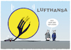Cartoon: Ups... (small) by markus-grolik tagged lufthansa,deutschland,dax,coroan,flugzeug,fluglinie